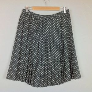 Chaus Skirt Womens 10 Polka Dot Pleat A-line